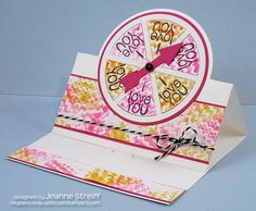 C4C Love You Spinner Card | Inky Paws by Jeanne Streiff  I made a Sizzix Stand-Ups (Sizzix Movers & Shapers Circle Stand-Ups Card) spinner card using the spinner2stamp stamp set from The Stamps of Life.