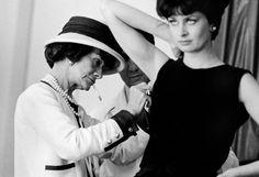 Coco at work #chanel, #fashion, #style, #cocochanel