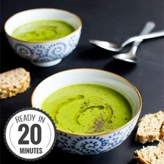 Irresistible Pea and Mint Soup, the classic British dish that's fresh, light and with the promise of summer yet to come!