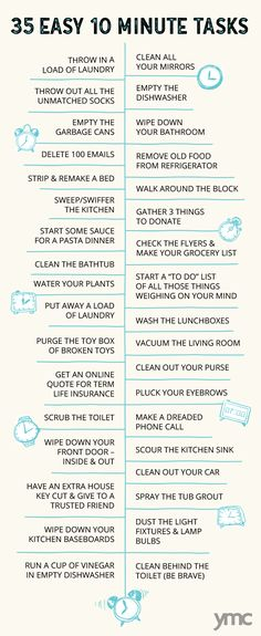 Get Your Sh*t Together: The Power of 10 Minute Cleaning Sprints - Healty fitness home cleaning House Cleaning Checklist, Clean House Schedule, Household Cleaning Tips, Diy Cleaning Products, Cleaning Solutions, Deep Cleaning, Spring Cleaning, Cleaning Hacks, Powers Of 10
