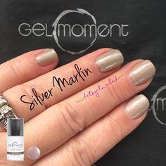 Gelmoment silver marlin diy gel manicure gel manicure, get nails, beauty hacks, beauty Dark Nails, White Nails, Gel Manicure, Shellac, Diy Beauty, Beauty Hacks, Beauty Tips, Gel Nails French, Gel Nail Colors