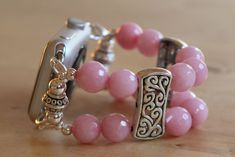 Apple Watch Band Pink Jade Apple Watch by jewelrysldesigns on Etsy