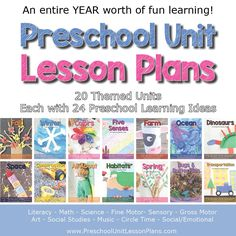 An Entire Year of Preschool Lesson Plans