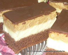 Hungarian Cake, Hungarian Recipes, Hungarian Food, Nutella, Tiramisu, Goodies, Food And Drink, Eat, Ethnic Recipes