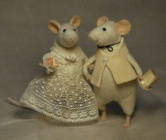Stuffed Animals by Natasha Fadeeva - newly wedded mice