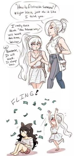 Hahaha... Weiss, Winter and Blake
