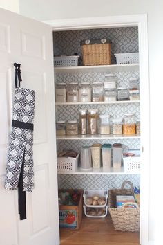 pretty pantry makeover, closet