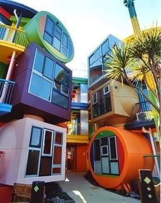 "Reversible Destiny Lofts - Tokyo - Japan -  2005 - Shusaku Arakawa and his creative partner, poet Madeline Gins  - Small apartments complex built in 2005 in the Tokyo suburb of Mitaka, by New York-based Japanese artist Shusaku Arakawa and his creative partner, poet Madeline Gins, that is anything but comfortable and calming. ""People, particularly old people, shouldn't relax and sit back to help them decline"", he insists."