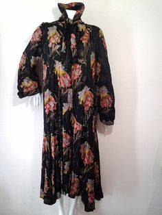 1920s Harry Angelo Silk Lame Opera Coat w/ Beading and Floral Motif For Sale at 1stdibs