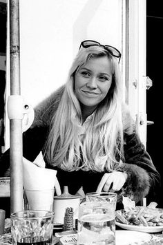 Agnetha in Brighton before the contest 1974.