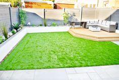 Modern back garden makeover, before and after.