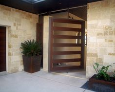 Unique entry, modern rotating door - WOW