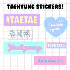 Pop Stickers, Tumblr Stickers, Printable Stickers, Kpop Diy, Journal Stickers, Scrapbook Stickers, Bts Chibi, Aesthetic Stickers, Diy Phone Case