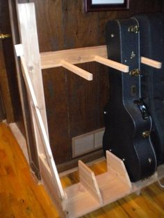 Instrument storage (vertical floor rack project)