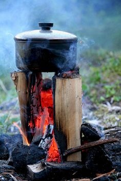 Great way to do some campfire cooking ...