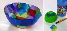 Art Projects for Kids: Tissue Paper Bowls