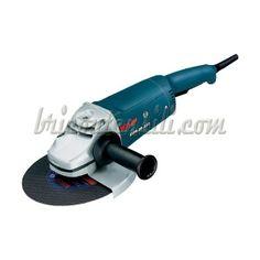 Smerigliatice angolare Linea blu professionale.  Potenza assorbita W 2000 Potenza  resa W 1200 Disco Ø max: mm 230 Filetto albero: M14 Velocità a vuoto: 6500 g/min