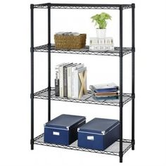 4-Tier Adjustable Steel Wire Metal Shelving Rack , for only $26.99 + FREE shipping !! reg price $70!! Calicouponchick.Net