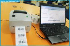 Generate barcode label using thermal printer