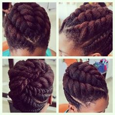 Natural hair styles have grown up! Love this!