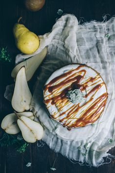 BROWN BUTTER PEAR CAKE WITH RUM CARAMEL