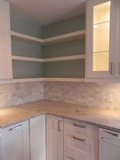 corner kitchen cabinet as shelves | corner shelves | Flickr - Photo Sharing!
