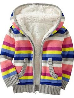 Sherpa-Lined Sweater Hoodies for Baby | Old Navy