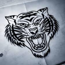 """Vaizdo rezultatas pagal užklausą """"black grey tiger old school"""""""