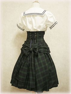 Excentrique green plaid skirt