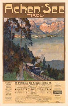 Gustav Jahn - Poster - Achen-See Harry Potter Poster, Salzburg Austria, Vintage Posters, Travel Posters, Art Pictures, Modern Art, Places To Go, Vintage World Maps, Images