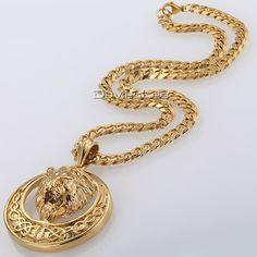 Buy Davieslee Men's Jewelry Lion Head Knot Gold/Silver Stainless Steel Pendant Necklace Chain at Wish - Shopping Made Fun Celtic Necklace, Lion Necklace, Pendant Necklace, Necklace Chain, Jewelry Gifts, Gold Jewelry, Jewelry Necklaces, Jewelry Ideas, Chain Jewelry