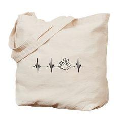 Paw Beat Tote Bag on CafePress.com