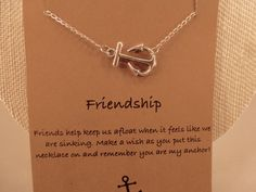 Anchor Necklace: Silver Anchor Charm Necklace by CraftsbyBrittany