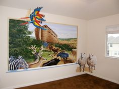 Noah's ark room - done in 2 days, February 2012