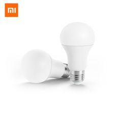 Xiaomi Smart LED Bulb Ball Lamp Low Power WiFi Remote Control by Xiaomi Mi Home APP Standard E27 Bulb 6.5W 0.1A Bedroom Light #Affiliate