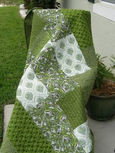 Fabric choices really make this simple quilt beautiful..