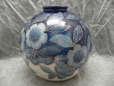 Très gros vase boule en porcelaine de Limoges par Camille THARAUD, H=27cm, 3kg!