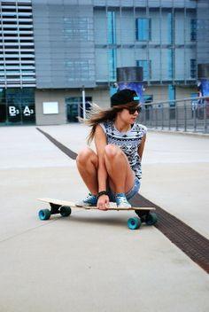 skater girl wearing converse