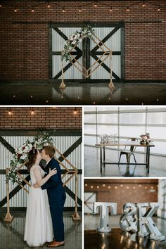 Modern industrial elopement at 52 North Venue. This bride wore a blush pink wedding dress for her modern elopement. Modern Wedding Venue, Wedding Ceremony, Wedding Venues, Wedding Photos, Blush Pink Wedding Dress, Blush Pink Weddings, Casual Wedding Groom, Wedding Couples, Industrial Wedding