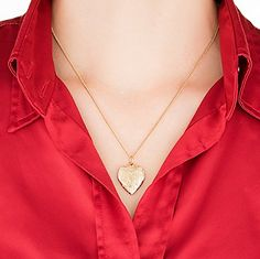 Gold Heart Locket