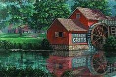 Art by Jim Harrison, Denmark, SC native Beautiful Family, Beautiful Pictures, Jim Harrison, American Country, Acrylic Art, Country Life, Barns, South Carolina, Denmark