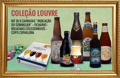 Cervejas da coleção Louvre de Dezembro.