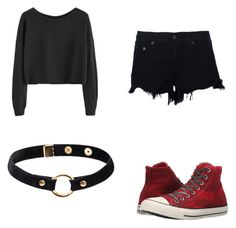 """""""being at home"""" by aclua ❤ liked on Polyvore featuring rag & bone, Converse and Nika"""