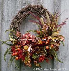 Fall Wreath, Autumn Wreaths, Woodland, Thanksgiving Décor, Pumpkins, Fall Floral Wreath, Elegant Holiday Wreath