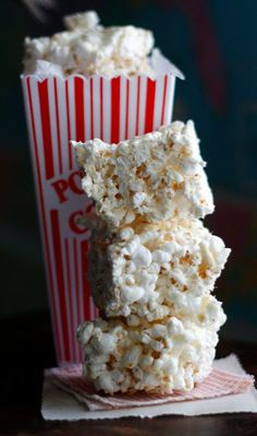 Outdoor Movie Night - Brown Butter Marshmallow Popcorn Bars