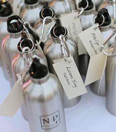 water bottle wedding favor