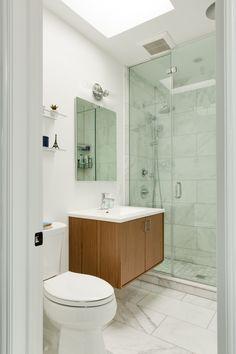 The sink vanity in the master bathrom is Kohler's Jute in Walnut Flax.