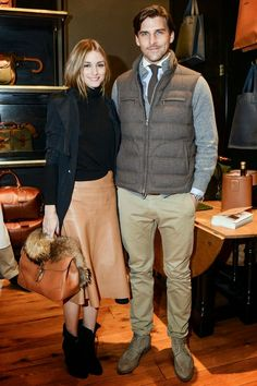 Olivia Palermo and Johannes Huebl at Ghurka Handbag Collection Launch in New York l October, 2014