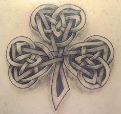 celtic three leaf clover tattoos   Pin Old Irish Gaelic Lettering Tattoo Gallery Tattoos Pinterest