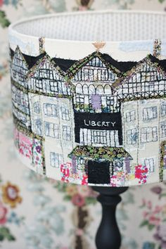 Sail boats lampshade home pin cushion Lighthouse Lampshade up close St Paul's Cathedral shade Floral Lampshades A selection of … Continue reading Gallery → Free Motion Embroidery, Embroidery Art, Machine Embroidery, Sewing Crafts, Sewing Projects, Diy Crafts, Fru Fru, Liberty Fabric, Liberty Quilt